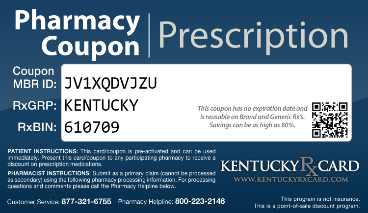 Kentucky Rx Card - Free Prescription Drug Coupon Card